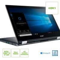 Notebook 2 em 1 Acer Spin 3 i5-8250U 8GB 1TB HD Tela 14\