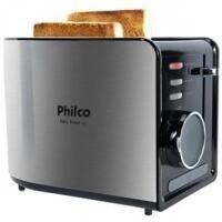 Torradeira Philco Easy Toast Aço Escovado/Preto - PTR2