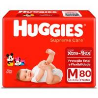 Fraldas Huggies Supreme Care M - 80un