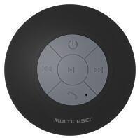 Mini Caixa de Som Bluetooth Shower Speaker 10W RMS Preta Multilaser SP225