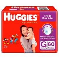 Fraldas Huggies Roupinha Supreme Care G - 60un