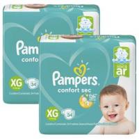 Fraldas Pampers Confort Sec XG - 68un