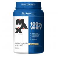 100% Whey Protein Concentrate Baunilha Max Titanium 900g