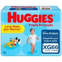 Fraldas Huggies Tripla Proteção XG - 66un