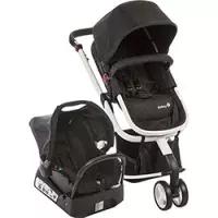 Carrinho de Bebê Safety 1st Travel System Mobi Black & White
