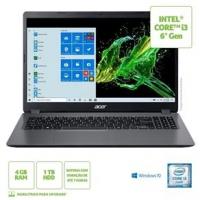 Notebook Acer Intel Core I3 6006u 4gb 1tb 156 Windows 10 - A315-54K-31E8