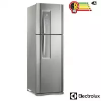 Geladeira Electrolux Duplex Frost Free 402 Litros Inox Painel Blue Touch - DF44S