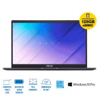 """Notebook Asus Celeron N4020 4GB HD 128GB Intel UHD 600 N4020 Tela 15,60"""" HD W10 - E510MA-BR352R"""