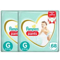 Fraldas Pampers Pants Premium Care G - 136un