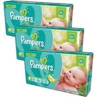 Fraldas Pampers Total Confort Mega P - 50un