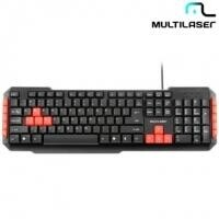 Teclado Gamer Multilaser Multimidia USB RED KEYS - TC160