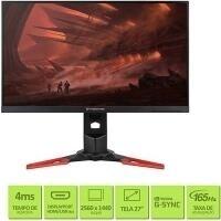 "Monitor Gamer Acer Predator 27"" WQHD 165Hz 4ms G-SYNC - XB271HU"