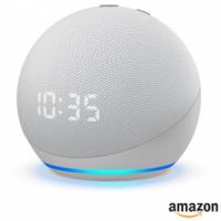 Smart Speaker Amazon Echo Dot 4ª geração com Relógio e Alexa