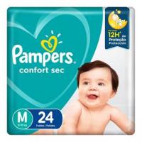 Fraldas Pampers Confort Sec M - 24un