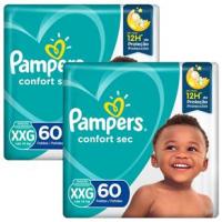 Fraldas Pampers Confort Sec Giga XXG - 120un