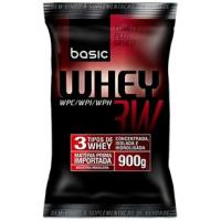 Whey Protein 3W Refil Basic Nutrition 900g