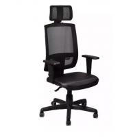 Cadeira de Escritório Presidente Plaxmetal Brizza Back System