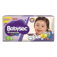 Fraldas Babysec Galinha Pintadinha Premium Flexi Protect G - 30un